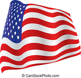 US Flag, Billowed