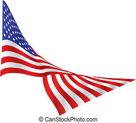 US Flag, Draped - American flag, lazily blowing in the wind