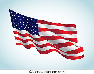 US Flag - This image represents an american flag in a july...