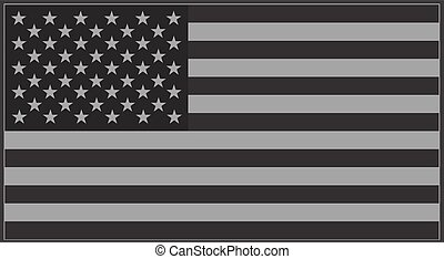 US flag grey - Vector United States flag grey.