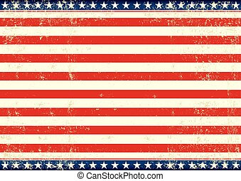 US flag horizontal - An american horizontal background for...