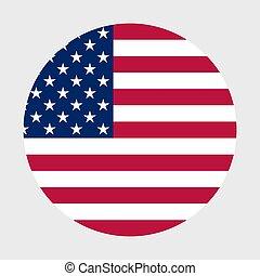 US flag in a mug