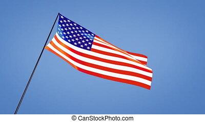 US flag low angle - US flag