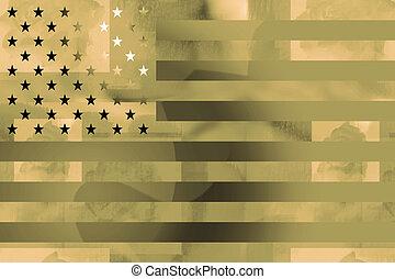 US flag military background