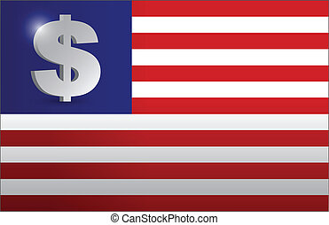 US flag monetary concept illustration design