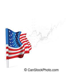 U.S. Flag on background stock illustrations