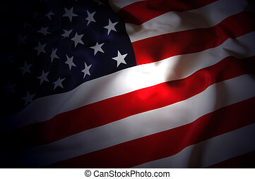 US Flag - patriotic background