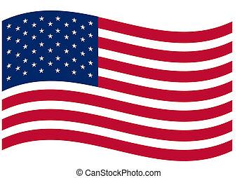 US Flag - Raster illustration file of the US flag
