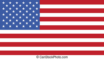 United States of America red and blue flag
