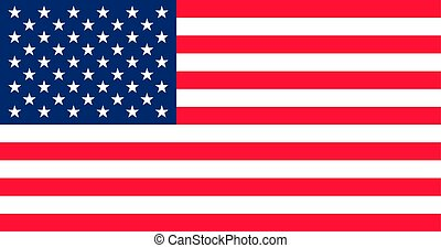 US flag vector. Old Glory. Star spangled banner. Stars and Stripes.