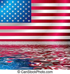 US flag wave