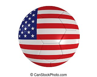 us football - 3d rendered illustration of the us banner on a...