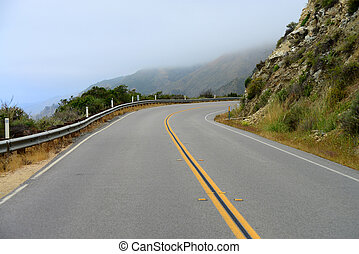 US Highway One in Big Sur California.