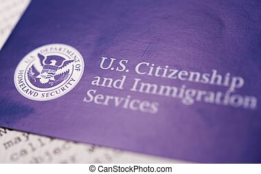 US Homeland Security Citizen and Immigration Services Flyer Closeup.