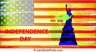 US Independence Day. Illustration, vector