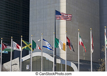 US Israel Flags - The United States, Israel and other flags...