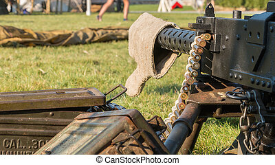 us machine gun close-up