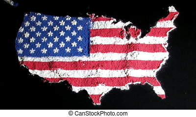US map, black, zoom in, contiguous