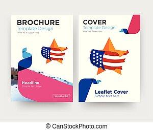 us map brochure flyer design template