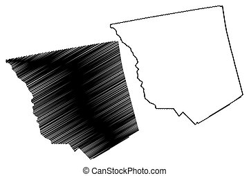 (u.s., mappa georgia, jones, stati uniti., illustrazione, ...