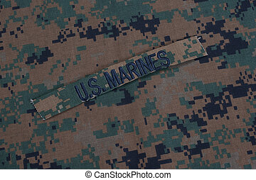 US Marines concept with service tapes and camouflaged...