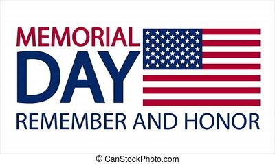US Memorial Day, art video illustration.