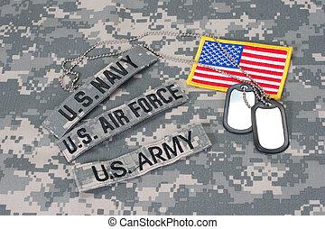us militär, begriff, auf, tarnung, uniform