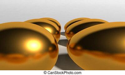 US money egg golden