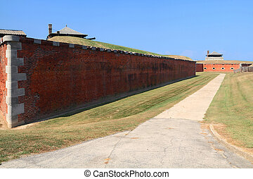 US National Historic Landmark - Old Niagara Fort Outside Wall