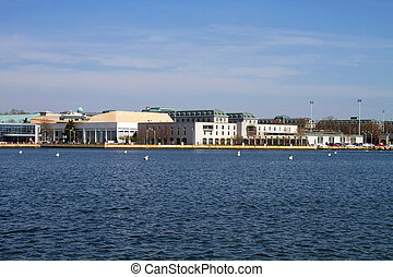 US Naval Academy Skyline - Skyline of the campus of the...