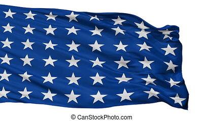 Us Naval Jack 48 Stars Flag Isolated Seamless Loop - Us...