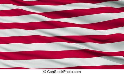 US Naval Jack Close Up Waving Flag - US Naval Jack Flag,...