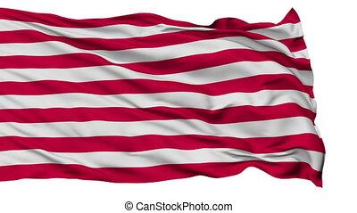 US Naval Jack Isolated Waving Flag