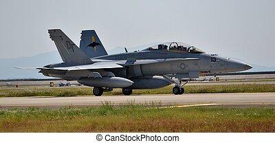 U.S. Navy F-18 Hornet Fighter Jet - A U.S. Navy F-18 Hornet...