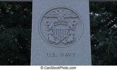 US Navy Monument - This is a shot of a public monument...