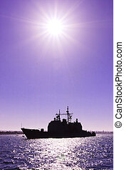 US Navy War Ship
