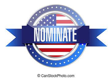 us nominate seal illustration design graphic over white