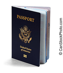us passport over white background