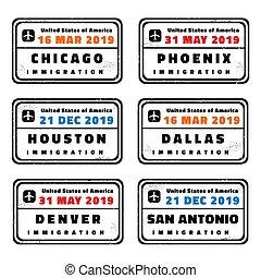 US passport stamps