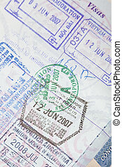 US Passport Visas Stamps