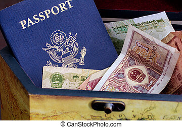 US Passport with chinese currency - US passport with chinese...