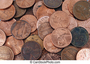 US pennies background