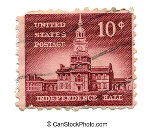 US postage stamp on white background 10c