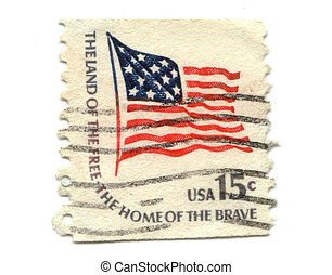 US postage stamp on white background 15c