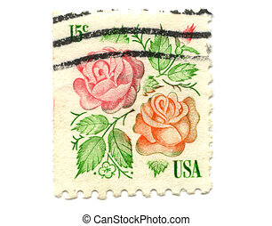 US postage stamp on white background 15c