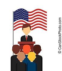 US presidential voting concept vector illustration design