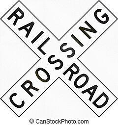 US Railroad Crossing