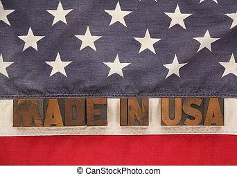 u.s., robiony, słówko, bandera, usa