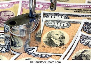US Savings Bonds with padlock