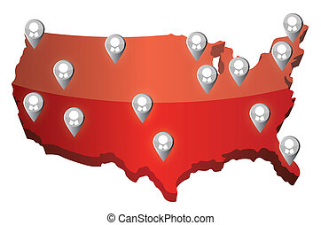 us social media networking map